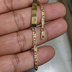 10kt real gold tricolor valentino ID bracelet